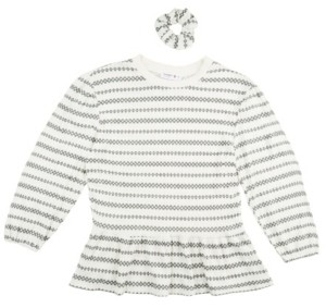 Beautees Girls Waffle Top with Matching Scrunchie