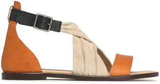 Belstaff Suede And Leather Sandals