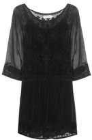Velvet Annmarie embroidered dress