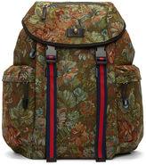 Gucci Men's Zaino Floral Brocade Backpack In Green