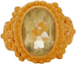 Carousel Jewels Intricate Lemon Topaz Cocktail Ring
