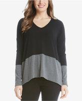Karen Kane Colorblocked V-Neck Sweater