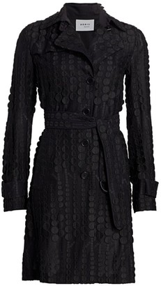 Akris Punto Embroidered Dot Trench Coat