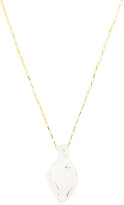 Alighieri Vessel With Tear 24-kt gold-plated necklace