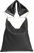 Marni Maxi Strap Textured-leather Tote - Black