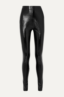 Tabitha Stand Studio - Pernille Teisbaek Faux Leather Skinny Pants - Black