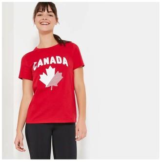 Joe Fresh Women's Canada Tee, Red (Size L)