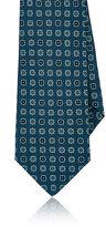 Kiton Men's Floral-Medallion Silk Necktie-GREEN