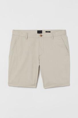 H&M Slim Fit Chino Shorts - Beige