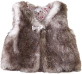Richie House Girls' Artificial Fur Vest with Bow RH0792-D-3/4