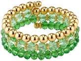 1928 Polished & Faceted Bead Coil Bracelet