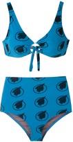 AMIR SLAMA Indio print high waisted bikini set