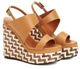 Aquatalia Carmela Waterproof Leather Wedge Sandal.