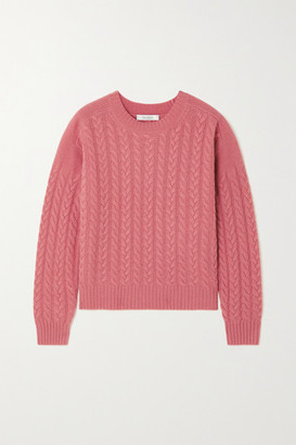 Max Mara Breda Cable-knit Wool And Cashmere-blend Sweater - Blush