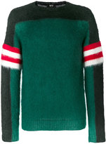 No.21 colour block jumper - men - Polyamide/Mohair/Wool - 48