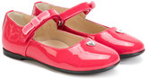 Armani Junior heart sandals - kids - Leather/Patent Leather/rubber - 21