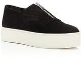 Vince Warner Nubuck Leather Platform Zip Sneakers