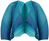Pleats Please Issey Miyake Alt striped pleated jacket
