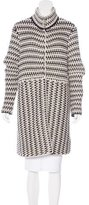 Tory Burch Wool-Blend Knit Coat
