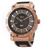 JBW Men's JB-6225-L 562 Swiss Movement Stainless Steel Real Diamond Watch - Rose Gold