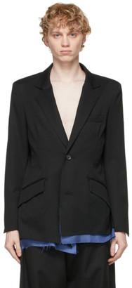 Sulvam Black Wool Layered Blazer