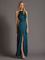 Halston DRAPED SATIN GOWN