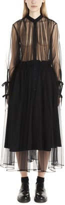Noir Kei Ninomiya Tulle Sheer Shirt Dress