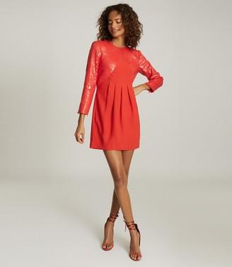 Reiss CARA SEQUIN MINI DRESS Red