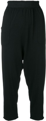 Raquel Allegra Drop Crotch Cropped Trousers