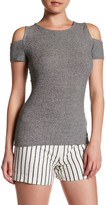 Laundry by Shelli Segal Cold Shoulder Ribbed Tee