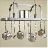 Hi-Lite Baker Large Rectangular Pot Rack with 2 Lights Accent