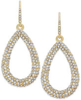 ABS by Allen Schwartz Earrings, Gold-Tone Pave Crystal Teardrop Earrings