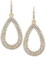 ABS by Allen Schwartz Earrings, Gold-Tone Pave Crystal Teardrop Earrings
