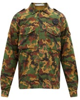 Off-White Off White Camouflage Cotton-ripstop Shirt - Mens - Green
