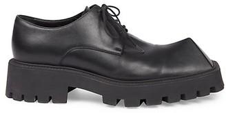 Balenciaga Rhino Leather Platform Derby Shoes