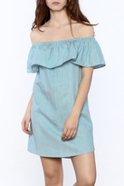 Bishop + Young Chambray Tiered Dress
