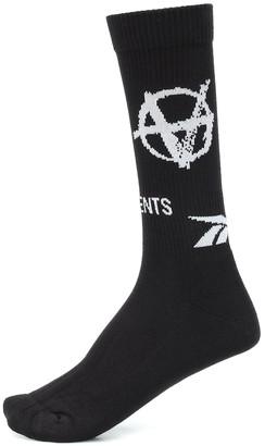 Vetements x Reebok intarsia socks