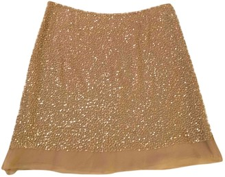 P.A.R.O.S.H. Beige Glitter Skirt for Women