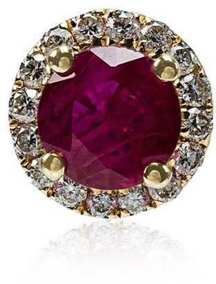 Rosa De La Cruz Ruby White Diamond Single Stud Earring