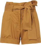 Silvia Tcherassi - Velano Belted Cotton-blend Shorts - Mustard