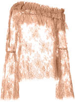 Zimmermann sheer ruffled blouse