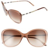 Burberry Women's 57Mm Butterfly Sunglasses - Nude