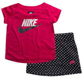 Nike Two-Piece Futura Cotton Tee and Scooter Skirt Set