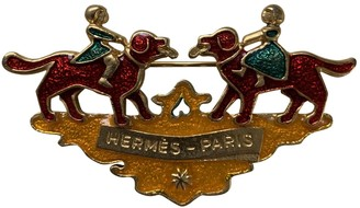 Hermes Yellow Gold plated Pins & brooches