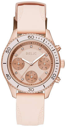 Fossil RELIC BY Relic By Womens Pink Strap Watch-Zr12556