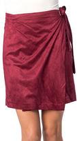 Kensie Faux Suede Wrap Skirt