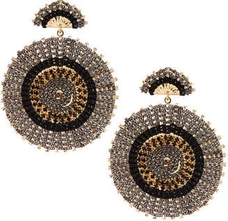 Nakamol Circular Rhinestone Bead Earrings, Black
