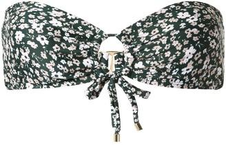Peony Swimwear Bandeau Floral Bikini Top