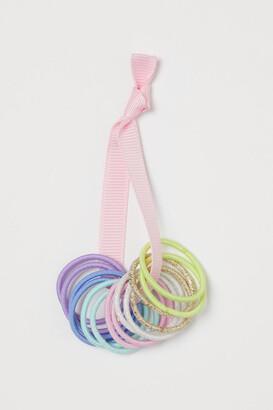H&M 14-pack Hair Elastics - Pink