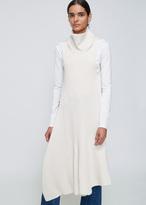 Ports 1961 Off-white Sleeveless Backless Turtleneck Sweater